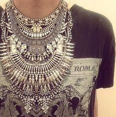 TatiTati Style - Mix it up baby, Glam, rock, boho, gypsy statement piece. Freaking amazing. I want.