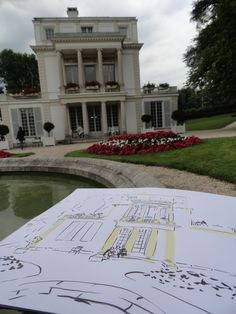 Sketching the #Caillebotte's  house. Spent a wonderful day in #Yerres.