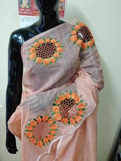 Cutwork n embroidery.the perfect duos 4 a perfect saree Cut Work Embroidery, Kurti Embroidery Design, Embroidery Saree, Embroidery Suits, Sari Design, Sari Blouse Designs, Saree Blouse Patterns, Trendy Sarees, Fancy Sarees