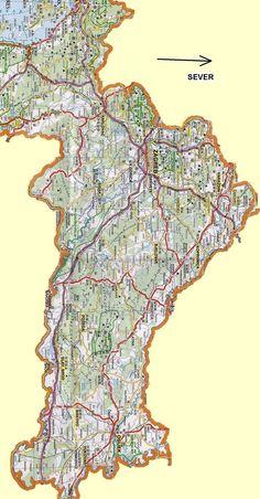 Podrobná mapa Chorvatska - sever.JPG (1176×2254)
