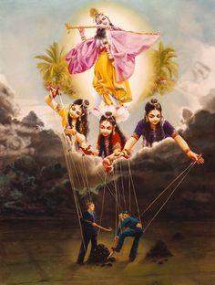 Krishna and Three Modes Señor Krishna, Krishna Love, Krishna Leela, Lord Krishna Wallpapers, Radha Krishna Wallpaper, Lord Krishna Images, Radha Krishna Pictures, Lord Shiva Painting, Krishna Painting