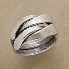 DOUBLE WRAP RING�--�Our fool-the-eye double wrap ring looks like twin lengths of oxidized sterling twisting around the finger, but the two are forever joined. A Sundance exclusive in whole sizes 5 to 11.