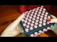 TUTORIAL simil CHANEL PINK uncinetto crochet PUNTO NOCCIOLINO Bubble BICOLOR (part 6) - YouTube