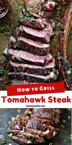 Tomahawk steak is meant for reverse searing on the grill. It will ensure the a juicy, tender steak every time. Every bite is sheer perfection! #grill #traeger #traegernation #steak #beef #dinner #reversesear #tomahawksteak #carnivore I Grill, How To Grill Steak, Grilling, Best Easy Dinner Recipes, Whole Food Recipes, Savoury Dishes, Food Dishes, Tender Steak, Smoking Recipes