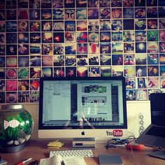 Instagram photo wall - Definitely want to do this one day :)
