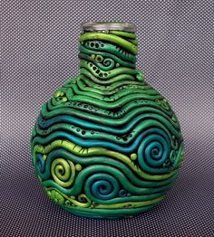 Crazy Coil Budvase Bottle by MandarinMoon, via Flickr