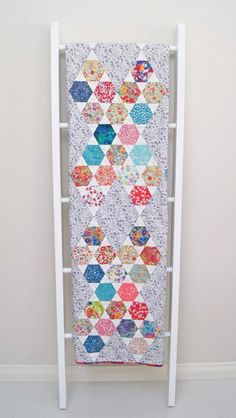 Liberty Hexie Kisses Quilt - the finished quilt