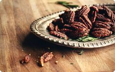 Rosemary and thyme candied pecans