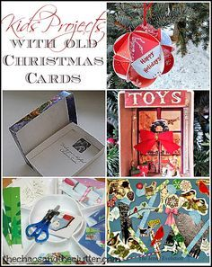 Kids Project with Old Christmas Cards