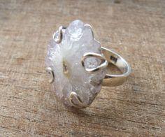 Lovely Crystal RingsSlice RingsGeode RingsCrystal by Belesas, $42.99 My ideal wedding ring.
