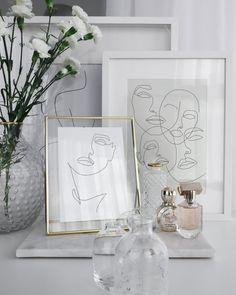 Abstract One-Line Feminine Face Printable, Minimalist Woman Art, Fine Multiple Lines Prints, Illustration Poster, Digital Girl Sketch Print. Glamour Décor, Room Ideas Bedroom, Bedroom Decor, Decoration Chic, Black And White Artwork, Black White, Home Decoracion, Uni Room, Blog Deco