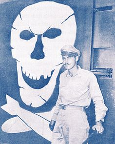 "Art Rogers and the famous Skull and Cross Bombs of the ""Jolly Roger"" Bomb Group"