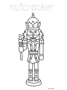 nutcracker free printable   Christmas coloring pages for kids