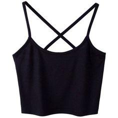 Sanwood Women's Sexy Tank Tops Cami T-Shirt Summer Vest Crop Top (Black Cross Back ):Amazon.co.uk:Clothing