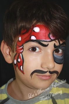 Pirate Boys Face Painting by Let's Bounce Inflatables, Vancouver Face Painters. www.letsbounceinflatables.ca