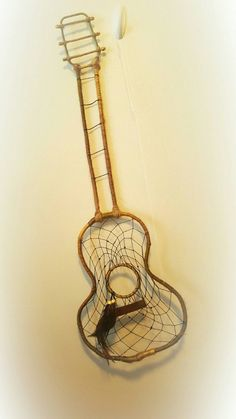 Guitar dreamcatcher by: Greystreetcatchers