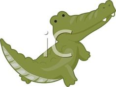 picture of  cartoon alligator on a white background in a vector clip art illustration