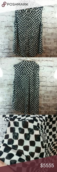 Cute checkered sheer sleeveless blouse Cute checkered sheer sleeveless blouse Tops Blouses