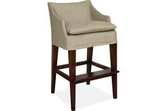 Lee Industries C5203-52 Slipcovered Campaign Bar Stool