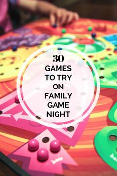 30 Games to Try on Family Game Night