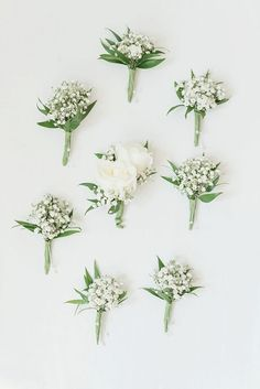 White baby's breath wedding boutonnieres for rustic wedding - Floral Inspiration., bouquets babys breath White baby's breath wedding boutonnieres for rustic wedding - Floral Inspiration. Babys Breath Boutonniere, White Boutonniere, Groom Boutonniere, Rustic Wedding Boutonniere, Babies Breath Bouquet, Rustic Wedding Bouquets, Babies Breath Centerpiece, Babys Breath Wreath, Ranunculus Boutonniere