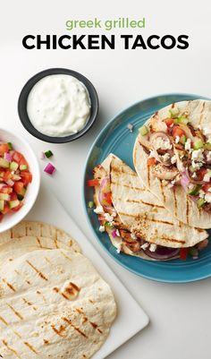 Greek Grilled Chicken Tacos. Rethink tacos with chicken souvlaki ...