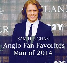 "Congratulations to our @SamHeughan Named ""Anglo Fan Favorites Man of 2014""! #WeDidIt #Outlander"