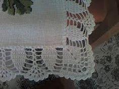 Resultado de imagem para bico de croche de canto para toalha de mesa