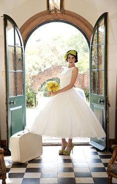 1950's Full circle wedding dress