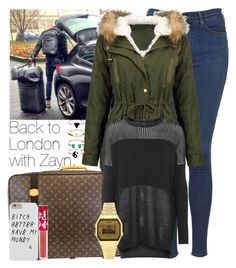 """""""Back to London with Zayn."""" by welove1 ❤ liked on Polyvore featuring Topshop, Louis Vuitton, Lime Crime and Accessorize"""