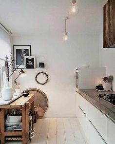scandinavian kitchen furniture design ideas - Home Decor & DIY Ideas Kitchen Furniture, Kitchen Interior, New Kitchen, Kitchen Decor, Kitchen Tips, Kitchen White, Furniture Design, Country Look, Interior Simple