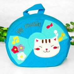 Blancho Bedding - Embroidered Art Backpack - Pretty Cat