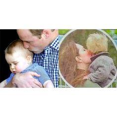 Mummy and Daddy's little prince. ❤ #katemiddleton #princewilliam #princegeorge #duchessofcambridge img.duchofcambridge.tumblr