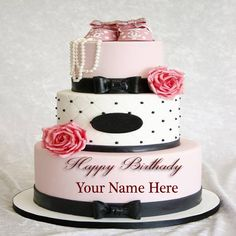 write my name in wedding cake shining happy birthday card 27664