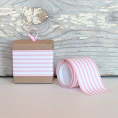 Paper Ribbon - Pink Stripe for $5.50 from The TomKat Studio Party Shop