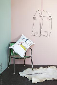 Coussin sweet home / cushion sweet home - © la cerise sur le gâteau - Anne Hubert - photo: Coco Amardeil