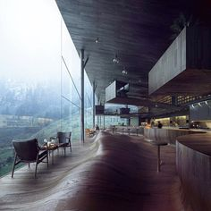 """Jensen & Skodvin's latest undulating floor concept for a new hotel tower in #Vals."