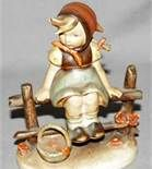 Hummel Figurines Girl Fence -