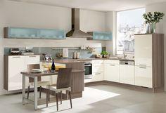 #Küche in Creme #Wohnküche www.dyk360-kuechen.de