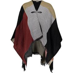 Colour Block Buckle Poncho Colour Block, Color Blocking, Tk Maxx, Scarves, Sweaters, Fashion, Scarfs, Moda, Fashion Styles