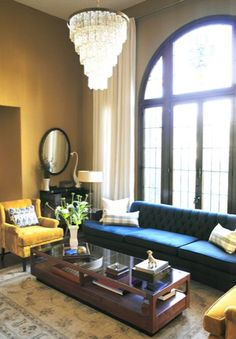 Love the color combo.  Photos by Laurie Joliet and room styled by Emily Henderson.