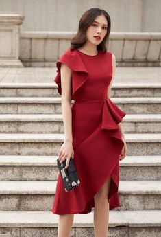Stylish Work Outfits, Classy Outfits, Chic Outfits, Beautiful Outfits, Simple Dresses, Elegant Dresses, Casual Dresses, Short Dresses, Fashion Dresses