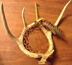 Deer Antler  Dream Catcher  Peacock and pheasant by CydsCreations, $75.00
