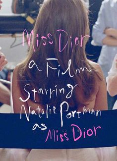Watch 'La Vie en Rose' tv spot for Miss Dior starring Natalie Portman and directed by Sofia Coppola. Natalie Portman, Dior Couture, Christian Dior, Dior Star, Miss Dior Blooming Bouquet, Typography Layout, Lettering, Editorial, Hand Drawn Type