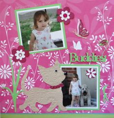 Pet Scrapbook Page with a girl & a dog from Cricut's Kate's ABCs - from Everyday Life, Album 10