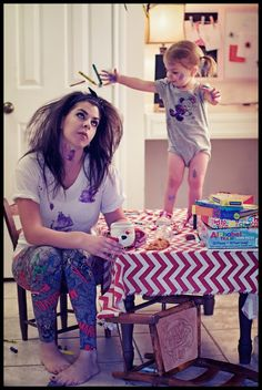 """Mom Life""Fun Photo series, 