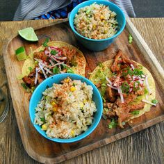 Chicken Tacos & Mexican Rice