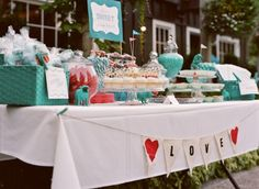 candy buffet is a must for circus wedding, Including cotton candy machine, popcorn machine and those orange marshmallow circus peanuts!