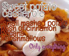 Sweet potato casserole for 1 healthy dinner