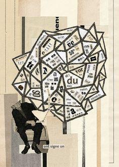Hugo Werner,   The Origin of Signs    Digital compositing + handmade collage from sketchbook. Year: 2009
